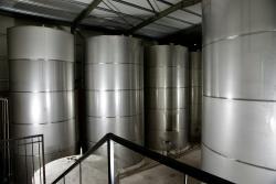 Olive oil storage tanks